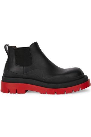 Bottega Veneta Men Chelsea Boots - Tire Leather Chelsea Boots