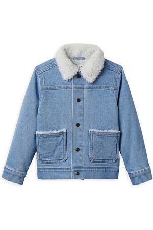 Janie and Jack Boys Denim Jackets - Little Boy's & Boy's Sherpa Collar Denim Jacket