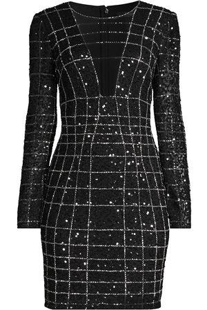 Aidan Mattox Women Party Dresses - Beaded Illusion Mini Dress