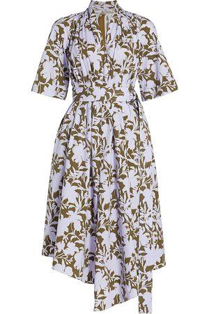 ADAM LIPPES Asymmetric Belted Shirtdress