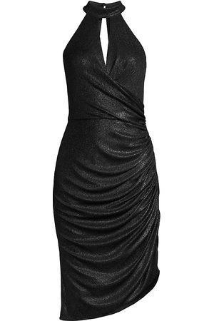 Aidan Mattox Draped Halterneck Dress