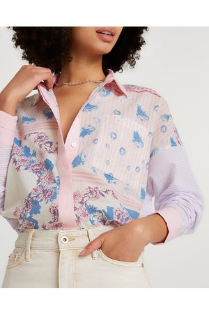 River Island Womens long sleeve floral oversized shirt