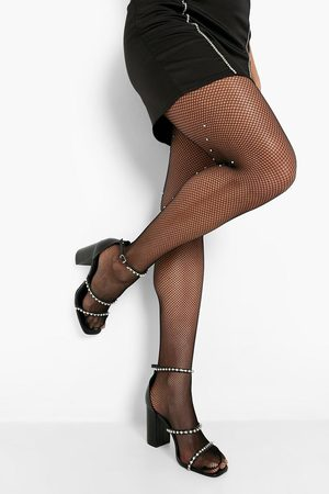Boohoo Womens Diamante Fishnet Tights - One Size