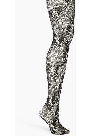 Boohoo Womens Crochet Net Tights - One Size