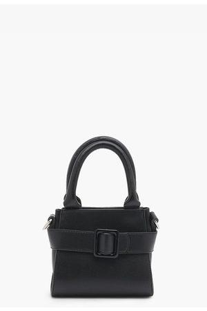 Boohoo Womens Front Buckle Pu Mini Cross Body Bag - - One Size
