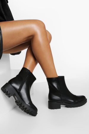 Boohoo Womens All Over Pu Ankle Boots - - 5