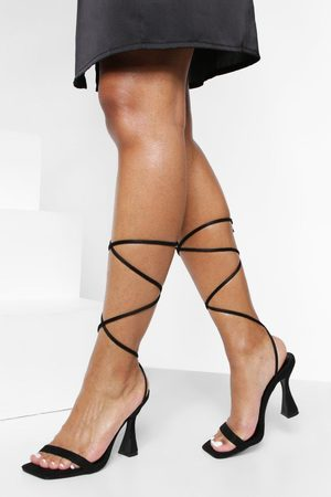 Boohoo Womens Skinny Strap Wrap Up Heels - - 5