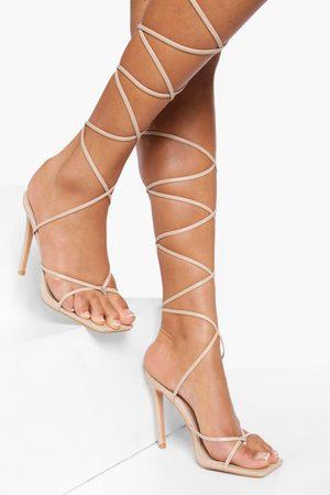 Boohoo Womens Toe Post Wrap Up Sandal - - 5