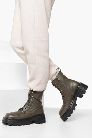 Boohoo Womens Quilted Detail Hiker Boot - - 5