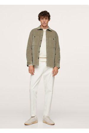 MANGO Corduroy pockets overshirt