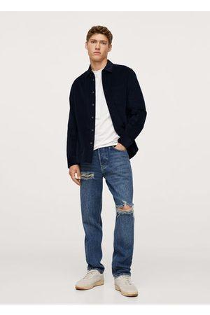 MANGO Regular fit pocket corduroy shirt