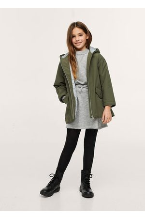 MANGO Hooded quilted jacket