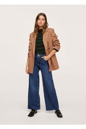 MANGO Women High Waisted - High-waist wideleg jeans