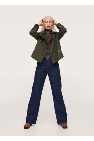 MANGO Wool-blend lapel jacket