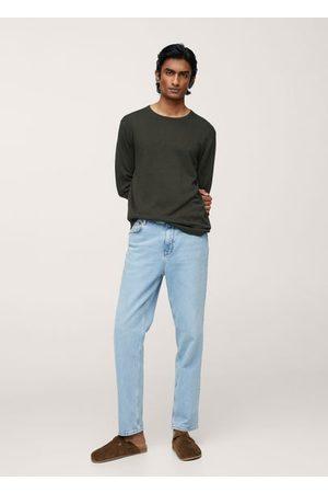 MANGO Men Cardigans - Fine-knit linen sweater