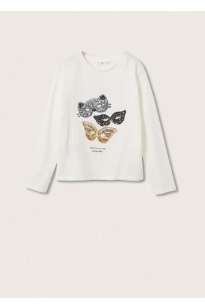 MANGO Girls Long Sleeve - Long-sleeved t-shirt with sequins