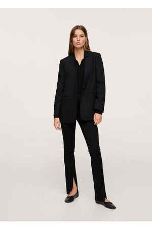 MANGO Structured blazer without lapels