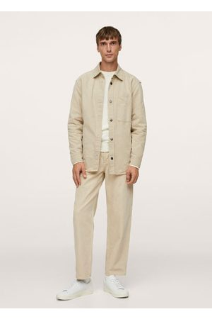 MANGO Men Denim Jackets - Denim worker overshirt