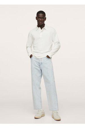 MANGO Long sleeves cotton polo