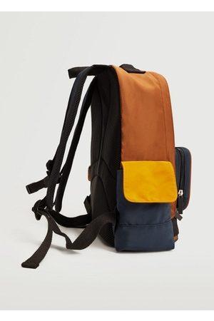 MANGO Multi-pocket nylon backpack