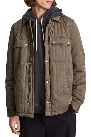 AllSaints Archer Regular Fit Quilted Shirt Jacket
