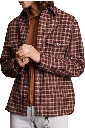 AllSaints Guerra Yarn Dyed Check Oversized Fit Button Down Shirt