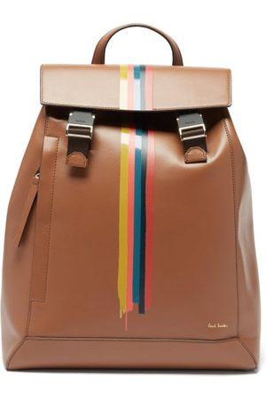 Paul Smith Men Rucksacks - Artist Stripe Leather Backpack - Mens