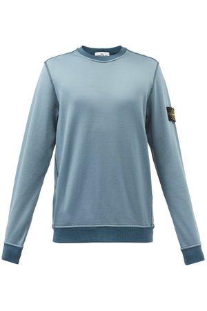Stone Island Logo-patch Inverted-seam Jersey Sweatshirt - Mens