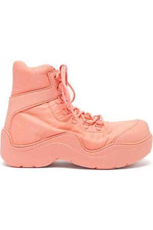 Bottega Veneta Women Boots - Puddle Bomber Nylon And Rubber Boots - Womens - Light