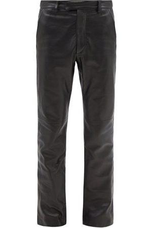 AMIRI Leather Flared Trousers - Mens