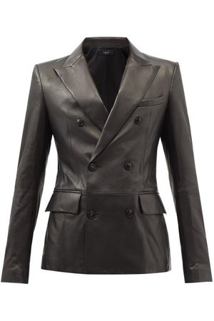 AMIRI Double-breasted Leather Blazer - Mens