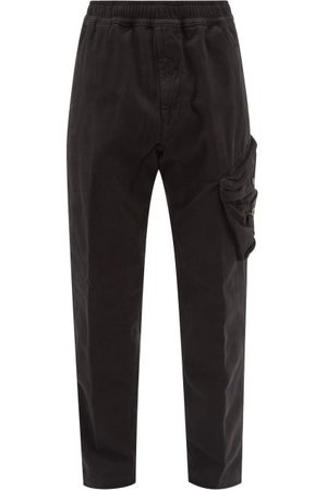 Stone Island Logo-patch Cotton-twill Cargo Trousers - Mens