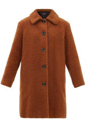 A.P.C. Women Fleece Jackets - Katerine Wool-blend Teddy Coat - Womens