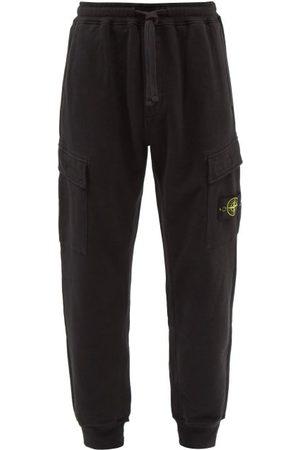 Stone Island Logo-patch Cotton-jersey Cargo Track Pants - Mens