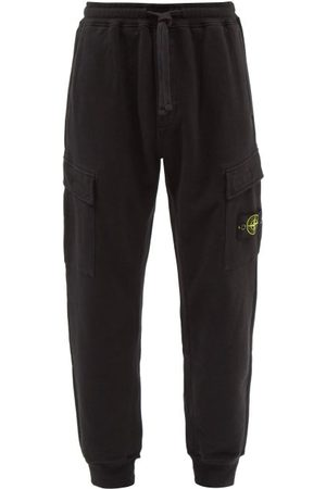 Stone Island Men Cargo Pants - Logo-patch Cotton-jersey Cargo Track Pants - Mens