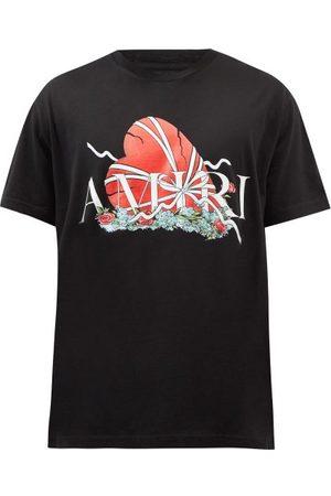 AMIRI Broken Heart Logo-print Cotton-jersey T-shirt - Mens