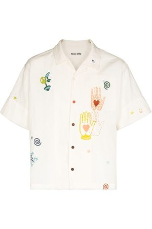 Story Men Short sleeves - Greetings embroidered short-sleeve shirt - Neutrals