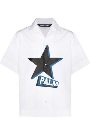 Palm Angels Rockstar print short-sleeve shirt