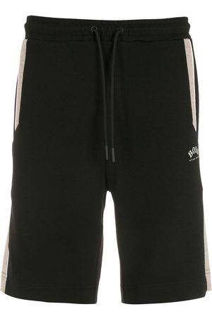 HUGO BOSS Men Bermudas - Headlo 1 logo-print track shorts