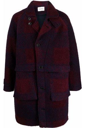 HENRIK VIBSKOV Men Coats - Mixer check-print single-breasted coat