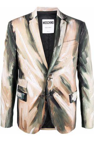 Moschino Paintbrush single-breasted blazer - Neutrals