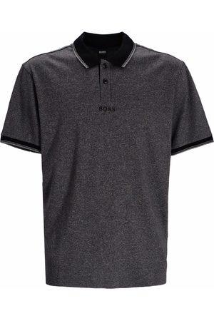 HUGO BOSS Men Polo Shirts - Houndstooth cotton jersey polo shirt