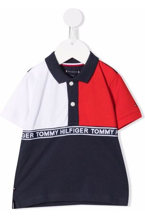 Tommy Hilfiger Color-block logo-tape polo shirt