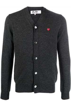 Comme des Garçons Fine-knit wool cardigan - Grey