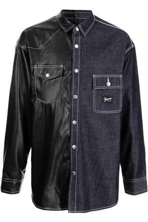 FIVE CM Panelled denim shirt