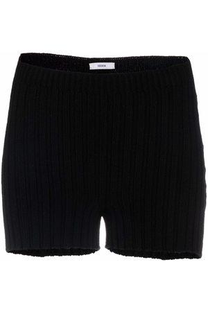 Erdem Women Sweats - Ribbed-knit cashmere-merino shorts