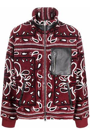 AMIRI Men Fleece Jackets - Paisley-print fleece jacket