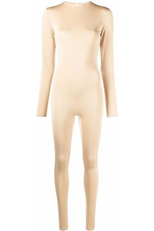 Atu Body Couture Stretch long-sleeved jumpsuit - Neutrals