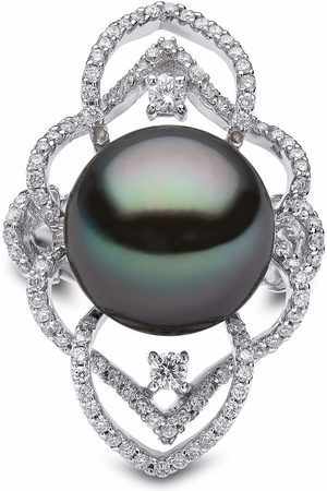 Yoko London 18kt white gold Twilight Tahitian Pearl and diamond ring