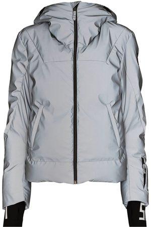 JET SET Women Ski Suits - Julia iridescent-effect ski jacket - Grey